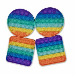 Rainbow Push Pop Bubble Fidget Toy