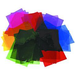 A4 Cellophane Sheets 48 sheets 6 colours