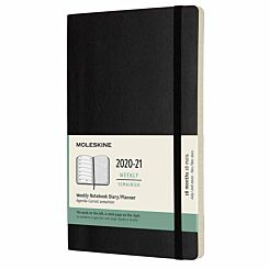 Moleskine 18 Month Soft Cover Diary Week to View with Notes Large 2020/21