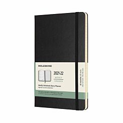Moleskine Academic Hardcover Diary Week to View Large 2021-2022