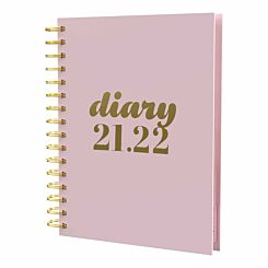 Collins Scandi Academic Diary Day to View A5 2021 Pink