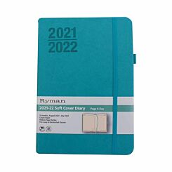 Ryman Soft Cover Mid-Year Diary Day to View A5 2021 Mint