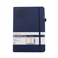 Ryman Soft Cover Mid-Year Diary Day to View A5 2021 Navy