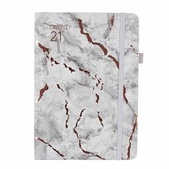 Ryman Marble Soft Cover Diary Week to View A5 2020-2021 Grey