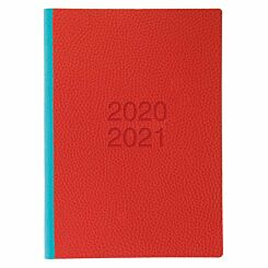 Letts Two Tone Mid-Year Diary Week to View A5 2020-2021 Red