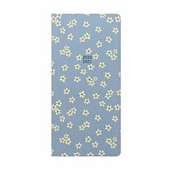 Letts Floret Mid-Year Diary Week to View Slim 2020-2021 Light Blue