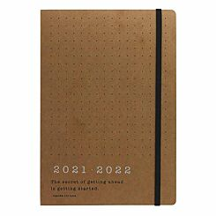 Letts Eco Writers Mid-Year Diary Week to View A5 2021 Kraft