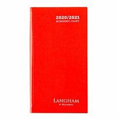 Langham Diary Week to View Slim 2020-2021 Red