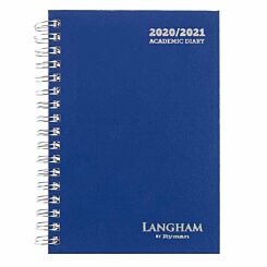 Langham Wiro Diary Week to View A6 2020-2021 Navy