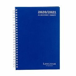 Langham Wiro Diary Week to View A5 2020-2021 Navy