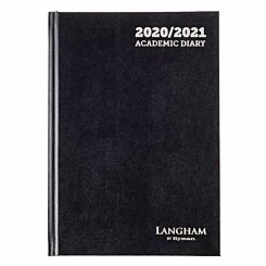 Langham Diary Week to View A5 2020-2021 Black