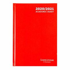Langham Diary Week to View A5 2020-2021 Red