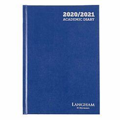 Langham Diary Week to View A5 2020-2021 Navy