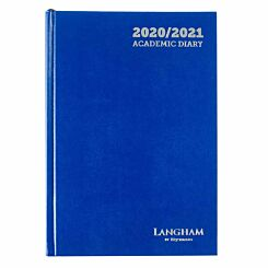 Langham Diary 2 Days per Page A5 2020-2021 Navy