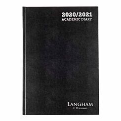 Langham Diary Week to View A4 2020-2021 Black