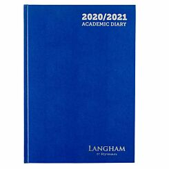 Langham Diary Week to View A4 2020-2021 Navy