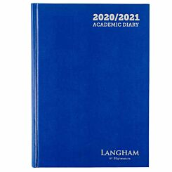 Langham Appointments Diary Page a Day A4 2020-2021 Navy