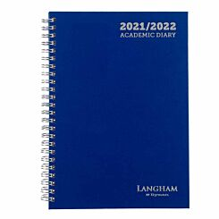 Ryman Langham Wiro Academic Diary Week to View A5 2021 Navy