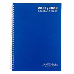 Ryman Langham Wiro Academic Diary Week to View A4 2021 Black