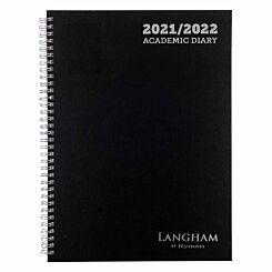 Ryman Langham Wiro Academic Diary Week to View A4 2021 Navy