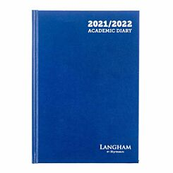 Ryman Langham Academic Diary Week to View A5 2021 Royal Blue