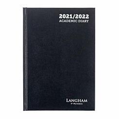 Ryman Langham Academic Diary 2 Day per Page A5 2021