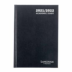 Ryman Langham Academic Appointments Diary Day to View A5 2021 Black