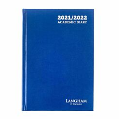 Ryman Langham Academic Appointments Diary Day to View A5 2021 Royal Blue
