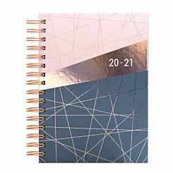 Matilda Myres Geometric Diary Day per Page A5 2020-2021 Light Pink
