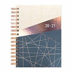 Matilda Myres Geometric Diary Day per Page A5 2020-2021 Ivory