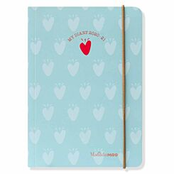 Matilda Moo Diary Day per Page A6 2020-2021 Light Blue