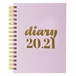 Collins Scandi Diary Page a Day A5 2020-2021 Light Pink