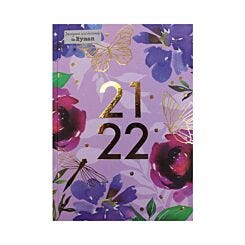 Ryman Floral Geometric Mid-Year Diary Day to View A5 2021