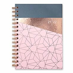 Matilda Myres Academic Diary Week to View A5 2021-2022 Pink
