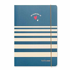 Matilda MOO Mid-Year Diary Week to View with Notes A5 2021-2022 Blue