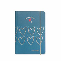 Matilda MOO Mid-Year Flexi Cover Diary Day to View A6 2021-2022 Blue