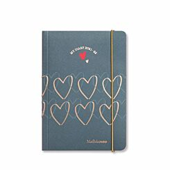 Matilda MOO Mid-Year Flexi Cover Diary Day to View A6 2021-2022 Grey