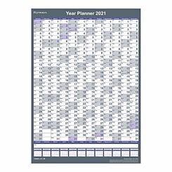Ryman Compact Portrait Wall Planner 2021