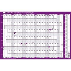 Sasco 2022 to 2023 Mounted Academic Year Planner 915 x 610mm
