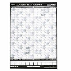 Ryman Academic Wall Planner Compact 2020-2021