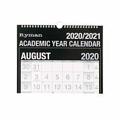 Ryman Academic Calendar Easy View 2020-2021
