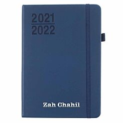 Ryman Personalised Mid-Year Diary Week to View A5 2021-2022 Navy Silver