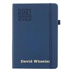 Ryman Personalised Mid-Year Diary Week to View A5 2021-2022 Navy Gold