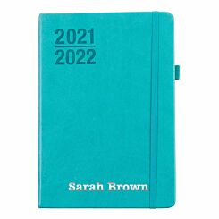 Ryman Personalised Mid-Year Diary Day to View A5 2021-2022 Silver Foil Mint