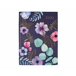 Ryman Floral Geo Grey and Lilac Page a Day A5 2019-2020