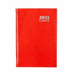Ryman Diary Week to View Pocket 2021 Red