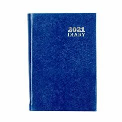 Ryman Diary Day to View Pocket 2021 Blue