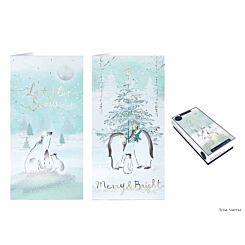 Tom Smith Arctic Dream Luxury Slim Christmas Cards Pack of 20