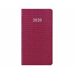 Letts Iguana Diary Week to View Medium 2020 Pink