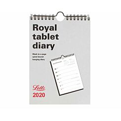 Letts Royal Tablet Calendar Week to View 2020